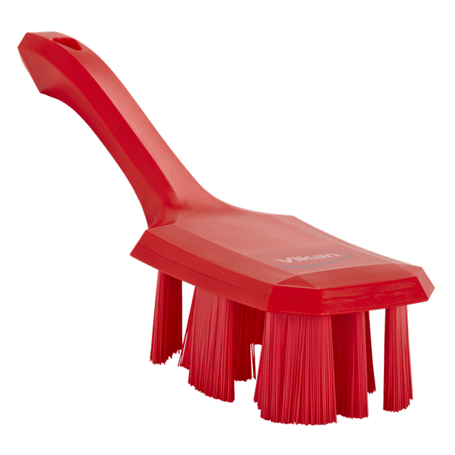 Vikan 41794 UST Hand Brush w/short handle 260 mm Hard Red