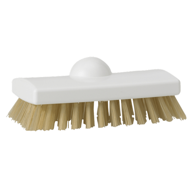 Vikan 47535 Scrubbing Brush - heat resistant filaments 150 mm Hard White