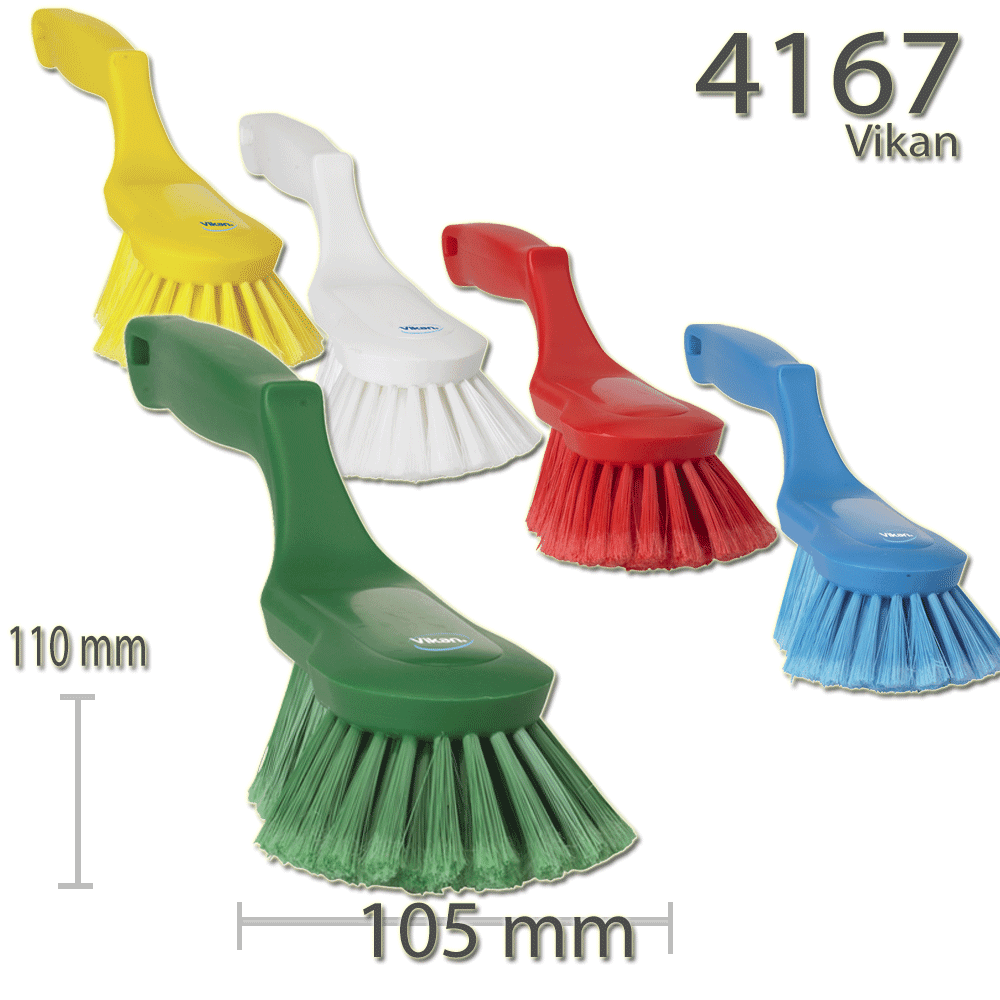 Vikan 4167 Ergonomic Hand Brush 330 mm Soft/split