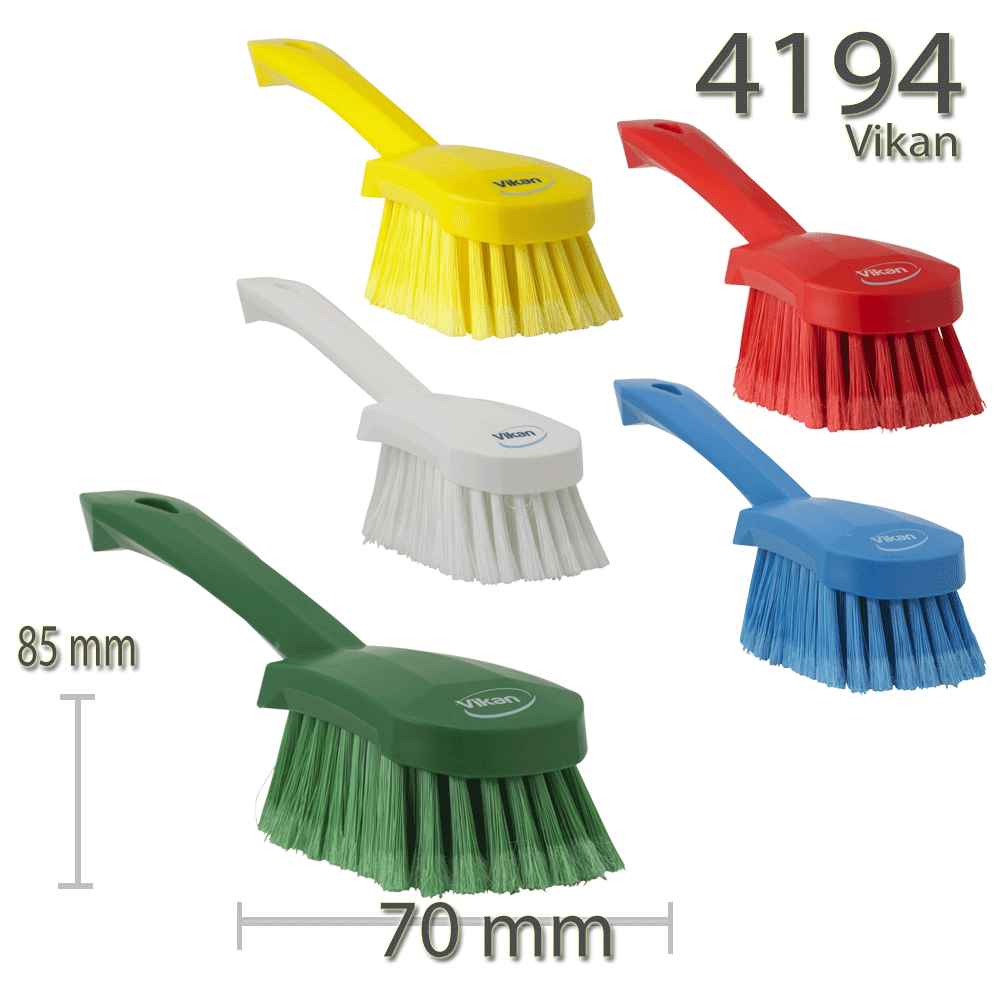 Vikan 4194 Washing Brush with short handle 270 mm Soft/split