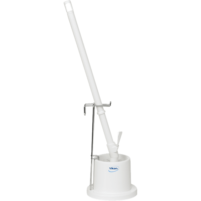 Vikan 50515 Toilet Brush w/Holder & Wall Bracket 720 mm Medium White