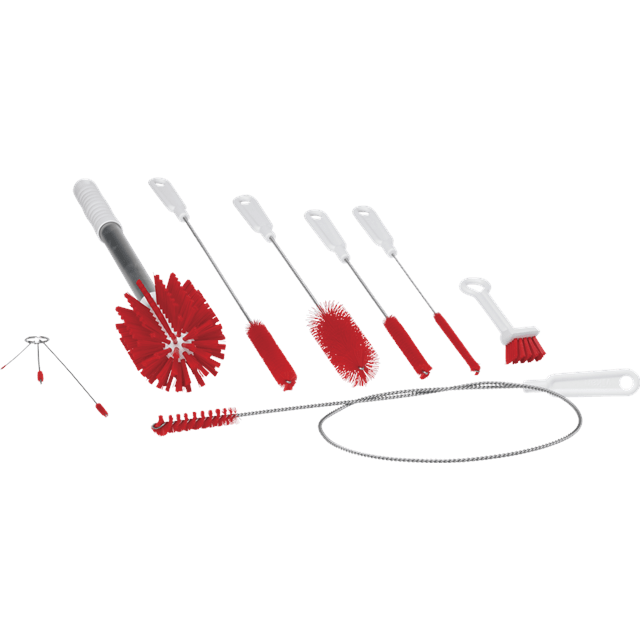 Vikan 53584 Brush Kit f/Softice Machines Red