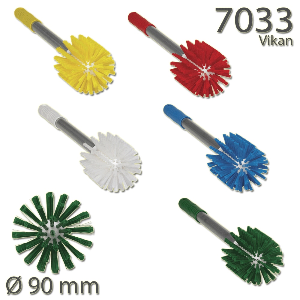 Vikan 7033 Pipe Brush with Handle Ø90 mm Medium
