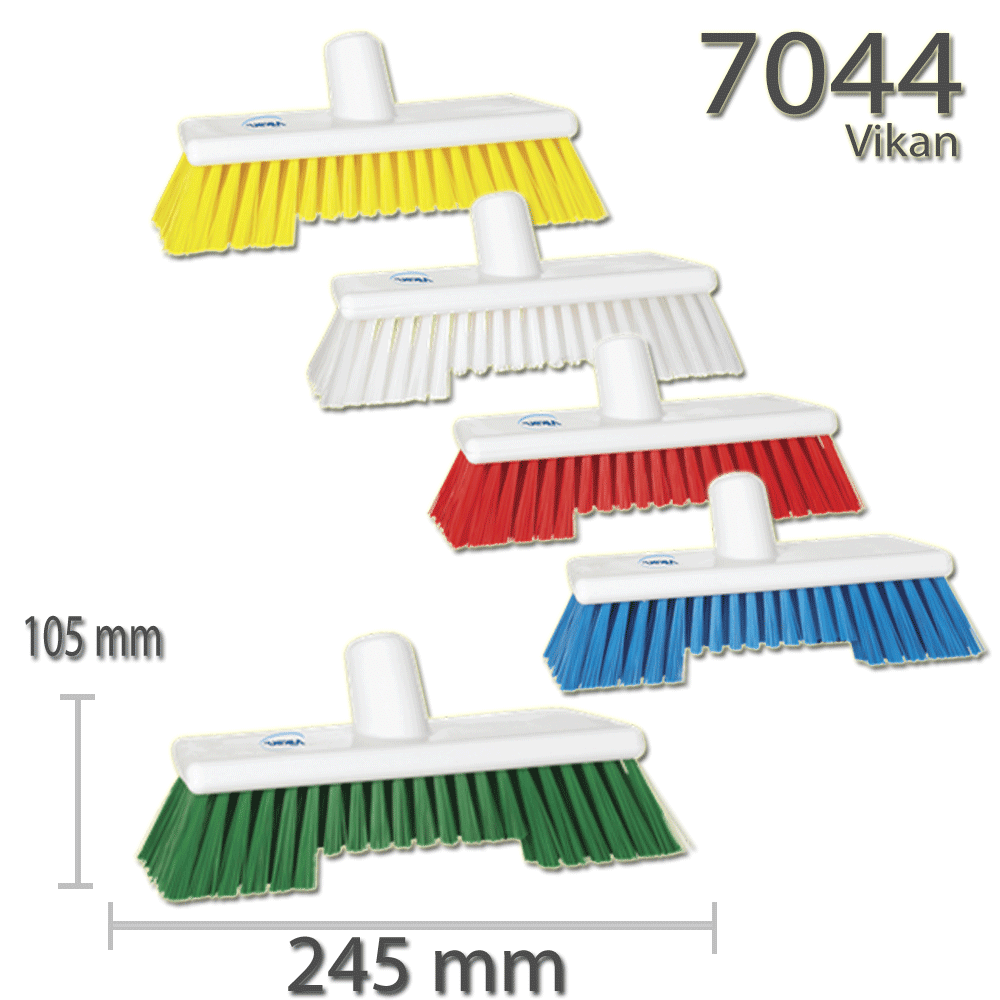 Vikan 7044 Deck Scrub w/2 filament lengths 245 mm Hard
