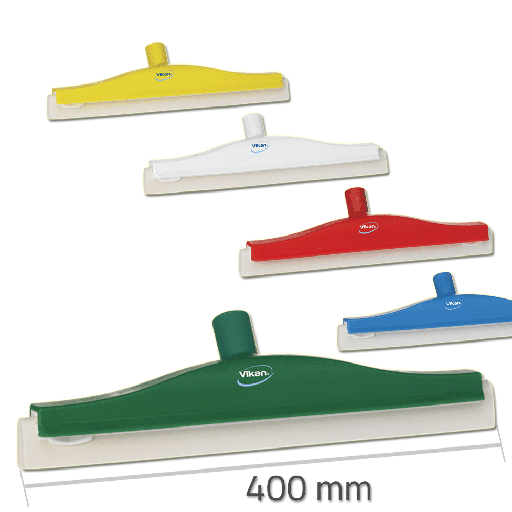Vikan 7762 Revolving Neck Floor squeegee w/Replacement Cassette 400 mm