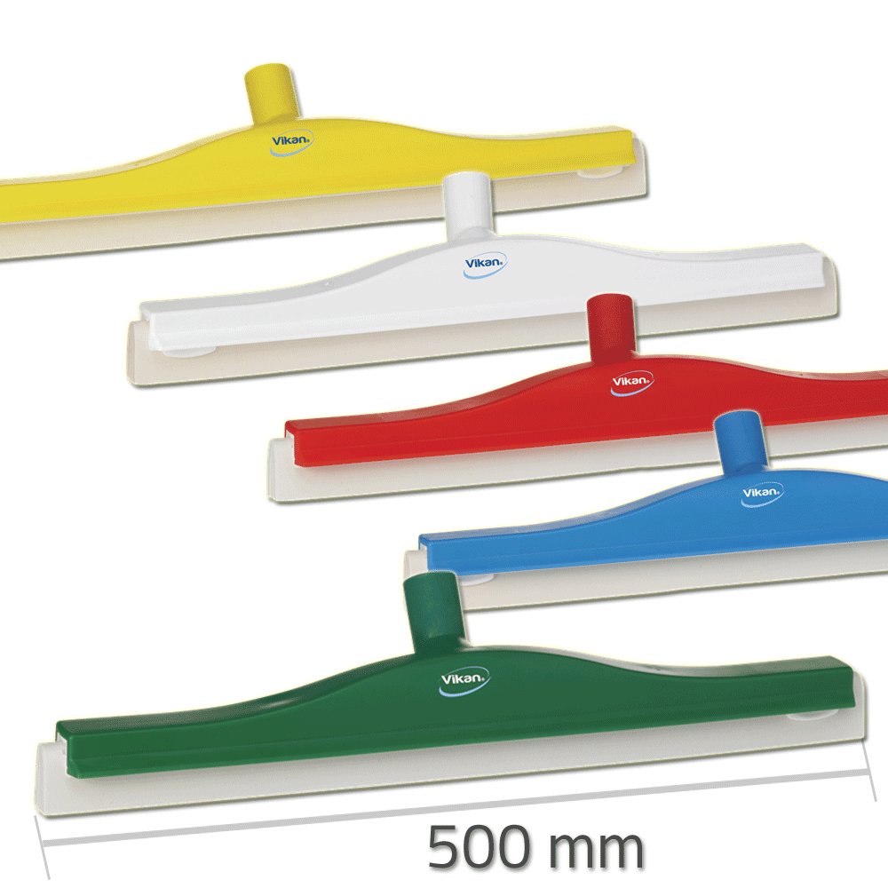 Vikan 7763 Revolving Neck Floor squeegee w/Replacement Cassette 500 mm
