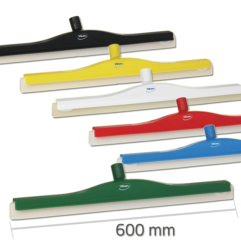 Vikan 7764 Revolving Neck Floor squeegee w/Replacement Cassette 600 mm