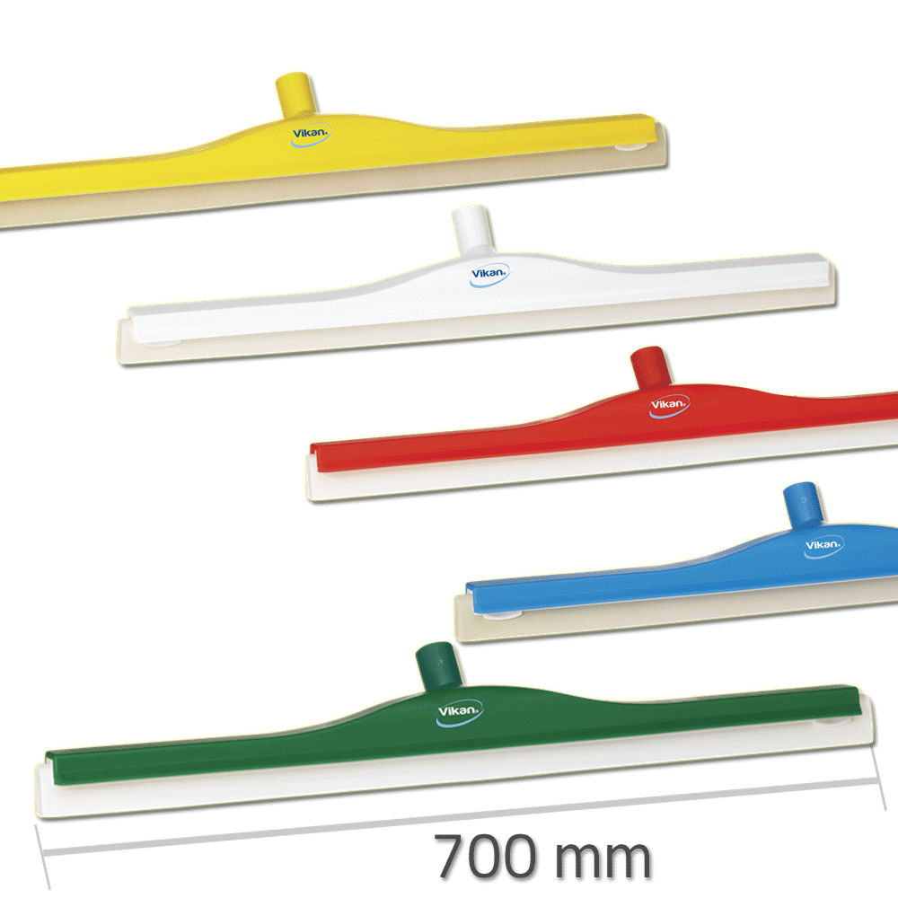 Vikan 7765 Revolving Neck Floor squeegee w/Replacement Cassette 700 mm