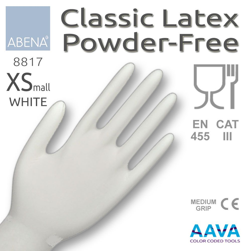 Latex Examination Glove Powder-Free White XS