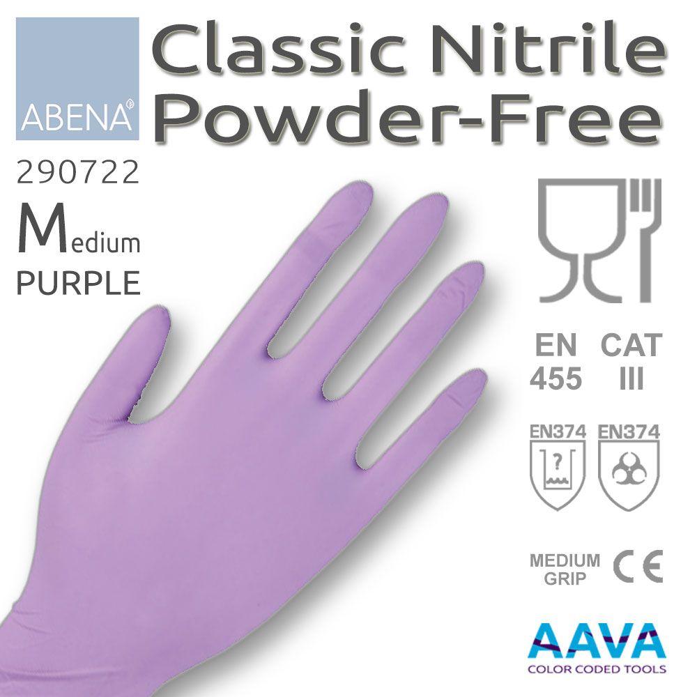 Abena Nitrile Powder-Free Medium Gloves Blue