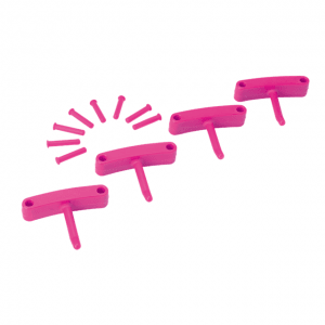 Vikan 10191 Rubber Clip x 4 for 1017 and 1018 120 mm Pink