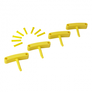 Vikan 10166 Hook x 4 for 1017 and 1018 140 mm Yellow