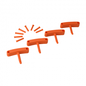 Vikan 10167 Hook x 4 for 1017 and 1018 140 mm Orange