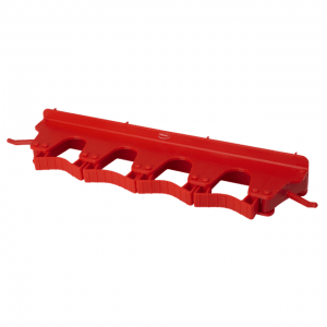 Vikan 10184 Wall Bracket 4-6 Products 395 mm Red