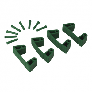 Vikan 10192 Rubber Clip x 4 for 1017 and 1018 120 mm Green