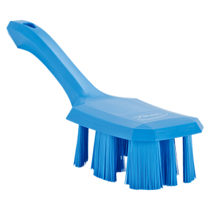 Vikan 41793 UST Hand Brush w/short handle 260 mm Hard Blue
