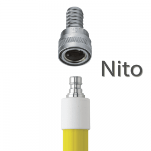 Vikan 2973Q6 Aluminium Telescopic Waterfed Handle with metal coupling 1600 - 2780 mm Ø32 mm Yellow