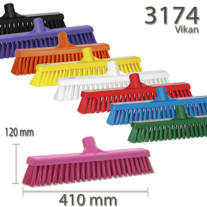 Vikan 3174 Broom 410 mm Soft/hard
