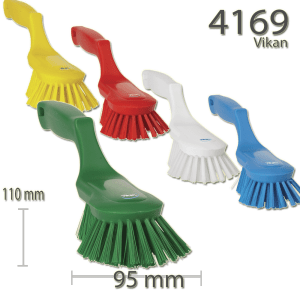 Vikan 4169 Ergonomic Hand Brush 330 mm Hard