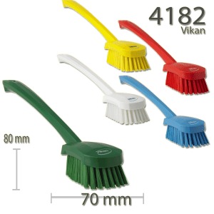 Vikan 4182 Washing Brush with long handle 415 mm Medium
