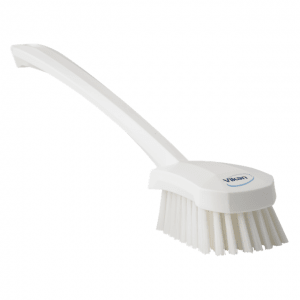 Vikan 41825 Washing Brush with long handle 415 mm Medium White