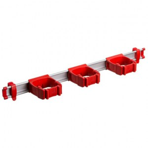 Toolflex One 54 cm Rail with 3 x P-01 Holder - RED