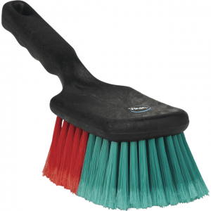 Vikan 522752 Vehicle Brush w/Short Handle 275 mm Soft/split Black