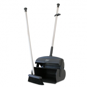 Vikan 559618 Dustpan set closed with broom and squeegee 1050 mm Grey