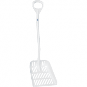 Vikan 56035 Ergonomic shovel with drain holes 380 x 340 x 90 mm 1145 mm White