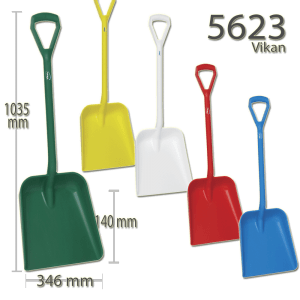 Vikan 5623 One Piece Shovel D Grip 379 x 345 x 90 mm 1035 mm