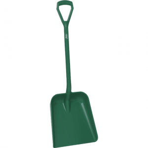 Vikan 56232 One Piece Shovel D Grip 379 x 345 x 90 mm 1035 mm Green