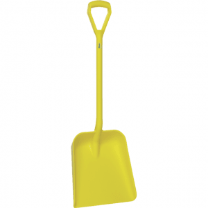 Vikan 56236 One Piece Shovel D Grip 379 x 345 x 90 mm 1035 mm Yellow