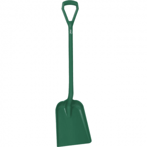 Vikan 56252 One Piece Shovel D Grip 327 x 271 x 50 mm 1040 mm Green