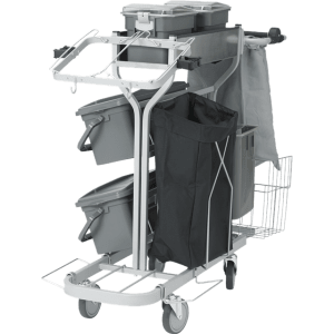 Vikan 580311 Compact Cleaning Trolley Plus  40 cm Grey