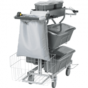 Vikan 580319 Compact Cleaning Trolley Plus 60 cm Grey