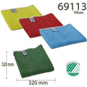 Vikan 69113 Basic microfibre cloth 32 x 32 cm