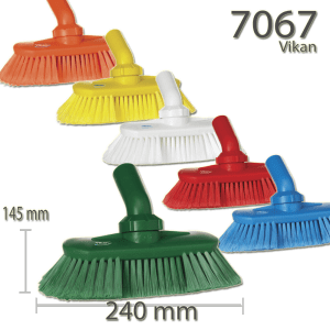 Vikan 7067 Washing Brush with Angle adjustment waterfed 240 mm Soft/split