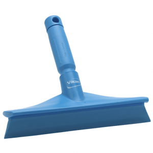 Vikan 71253 Ultra Hygiene Table Squeegee w/Mini Handle 245 mm Blue