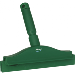 Vikan 77112 Hygienic Hand Squeegee with replacement cassette 250 mm Green