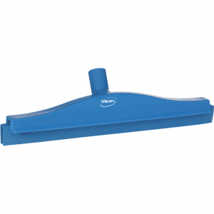 Vikan 77223 Hygienic Revolving Neck Squeegee w/replacement cassette 405 mm Blue