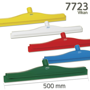 Vikan 7723 Hygienic Revolving Neck Squeegee w/replacement cassette 505 mm