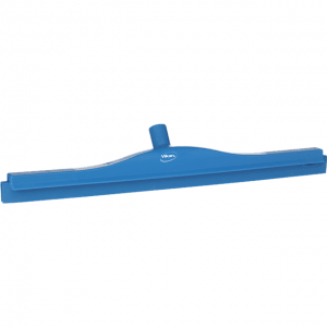 Vikan 77243 Hygienic Revolving Neck Squeegee w/replacement cassette 600 mm Blue