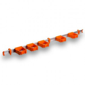 9-5-0 Toolflex One 94 cm Rail with 5 x P-01 Holder - Orange