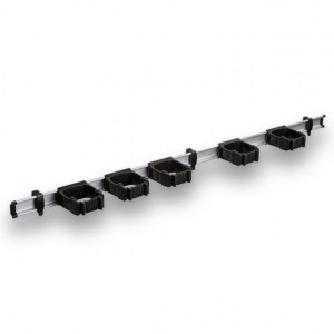 9-5-0 Toolflex One 94 cm Rail with 5 x P-01 Holder - Black