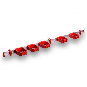 9-5-0 Toolflex One 94 cm Rail with 5 x P-01 Holder - Red