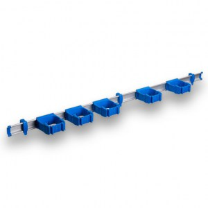 9-5-0 Toolflex One 94 cm Rail with 5 x P-01 Holder - Blue