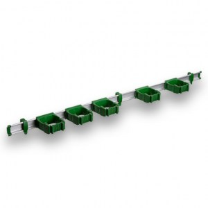 9-5-0 Toolflex One 94 cm Rail with 5 x P-01 Holder - Green