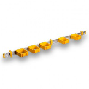 9-5-0 Toolflex One 94 cm Rail with 5 x P-01 Holder - Yellow