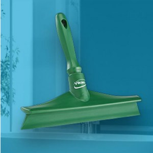 Vikan 71252 Ultra Hygiene Table Squeegee w/Mini Handle 245 mm Green